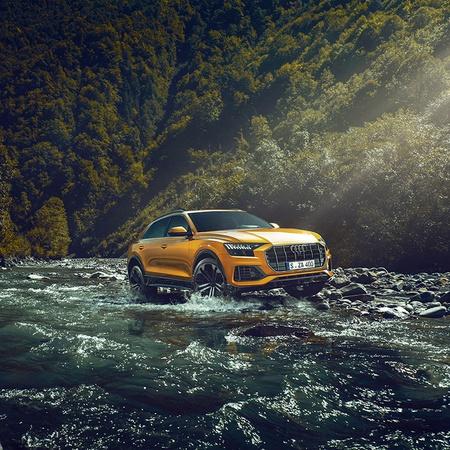 Audi Q8 in water