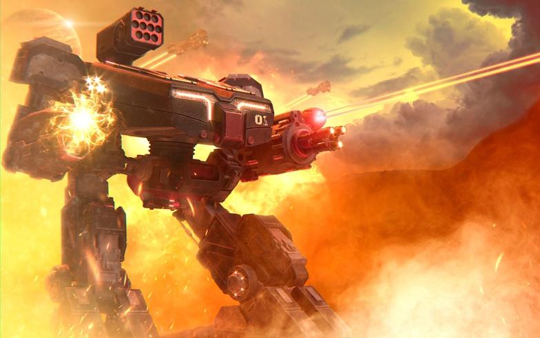 robot, giant, design, fire, smoke