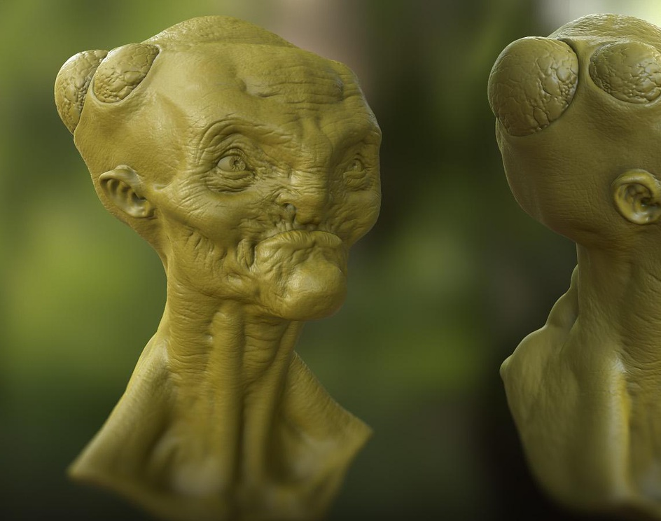 Alien Creature Bustby avagoyamug