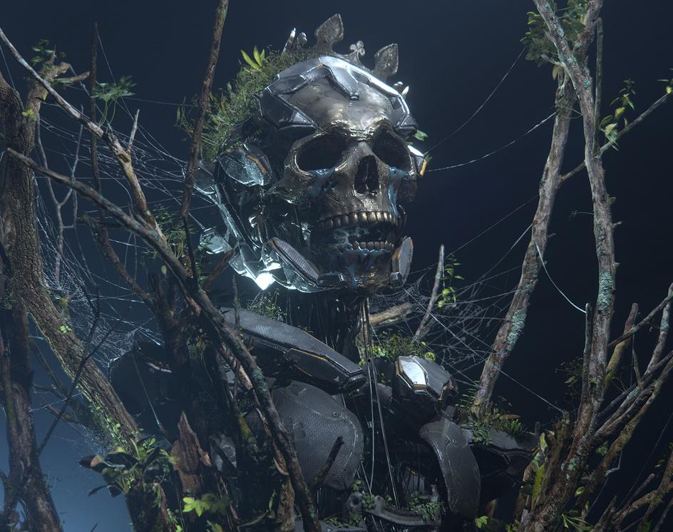 Golden skull V2 EEVEEby Hirokazu Yokohara