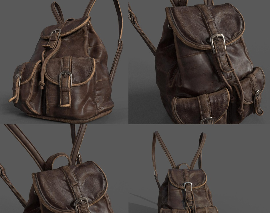 Leather Old Bag..by akash garg