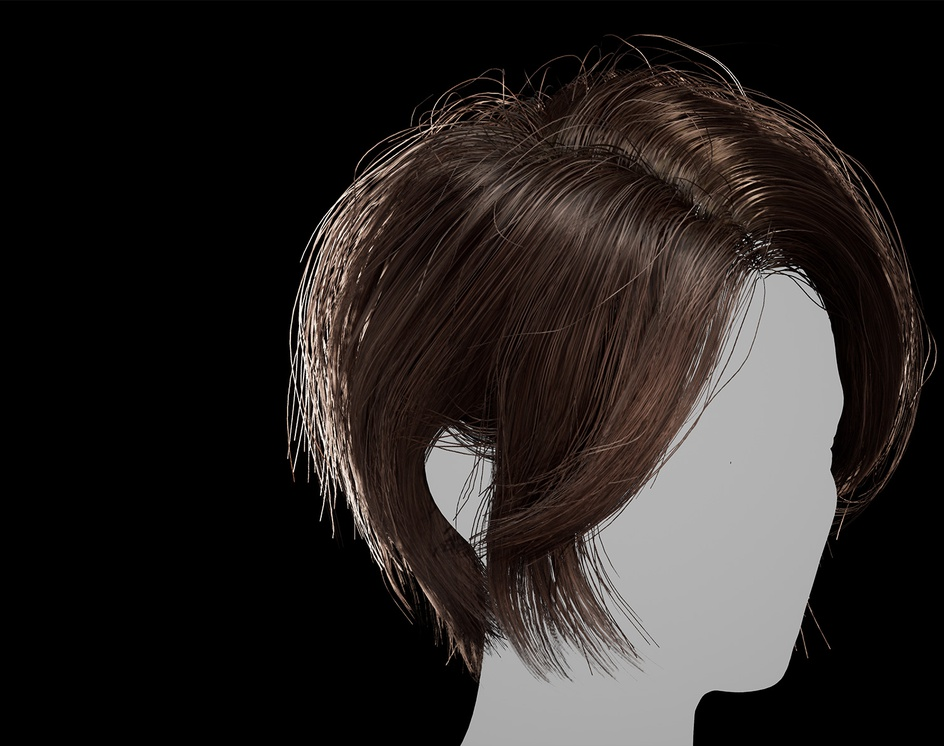 Hair for games. Haircut 1 (2020) - Unreal Engine 4by Andrew Krivulya