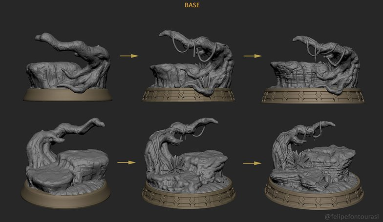 sculpting base