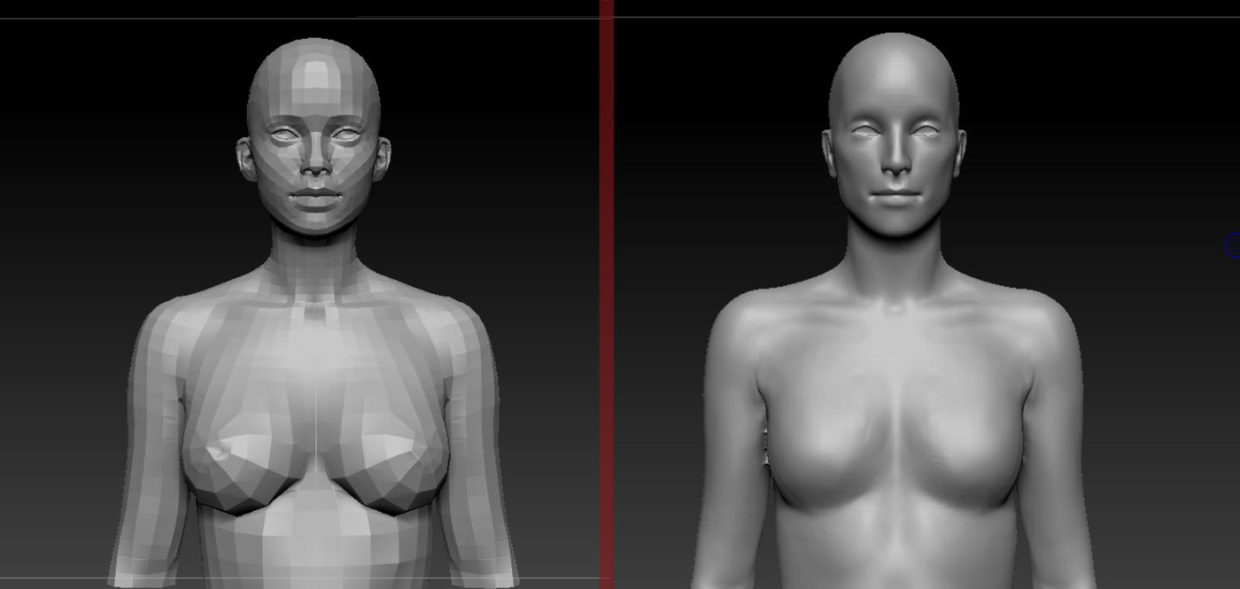 facial structure 3d modelling