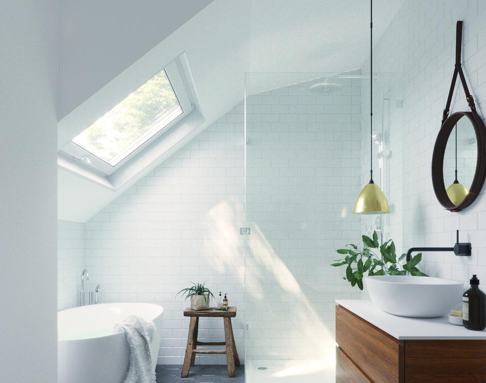 Roof Light Bahtroom | California | DEER Designby DEER Design