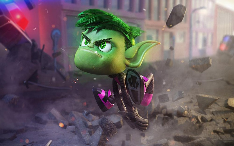 Beast Boy DC Comics 3d cartoon art