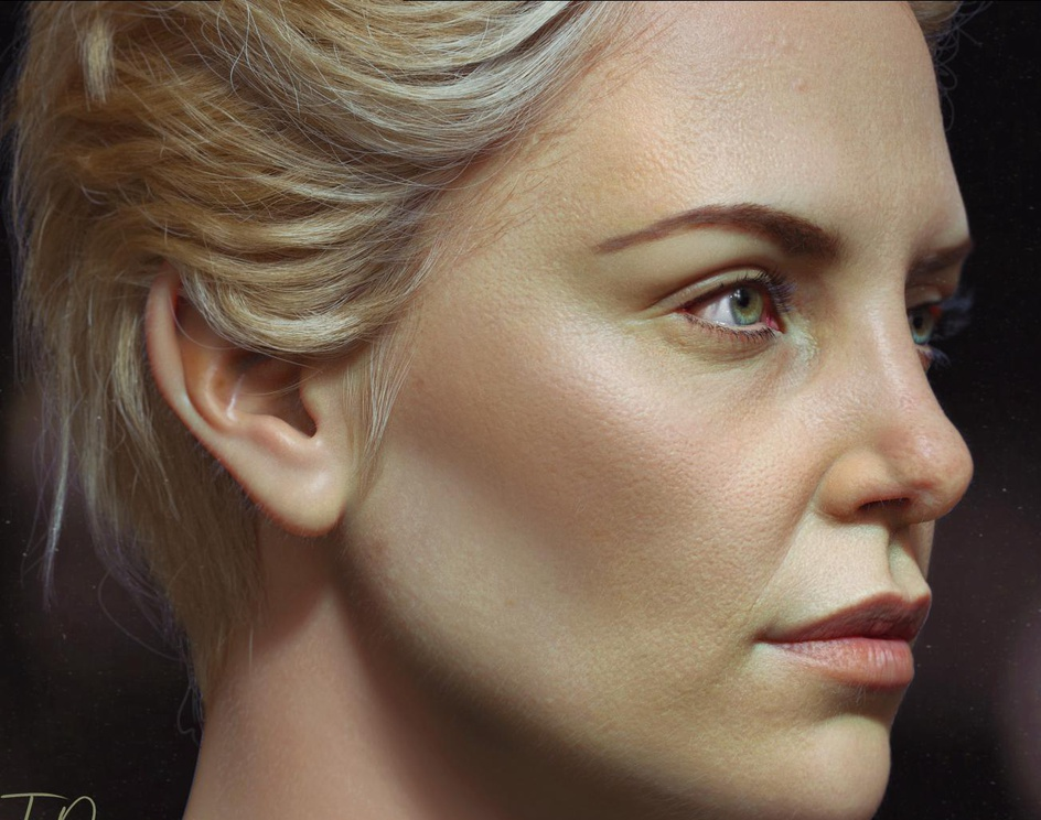 3D Portrait of Charlize Theronby Tida PN