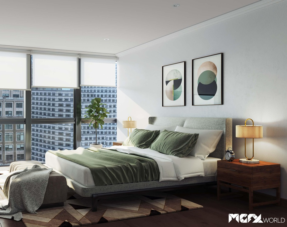 Realistic 3D Bedroom Design Visualisationby MGFX World