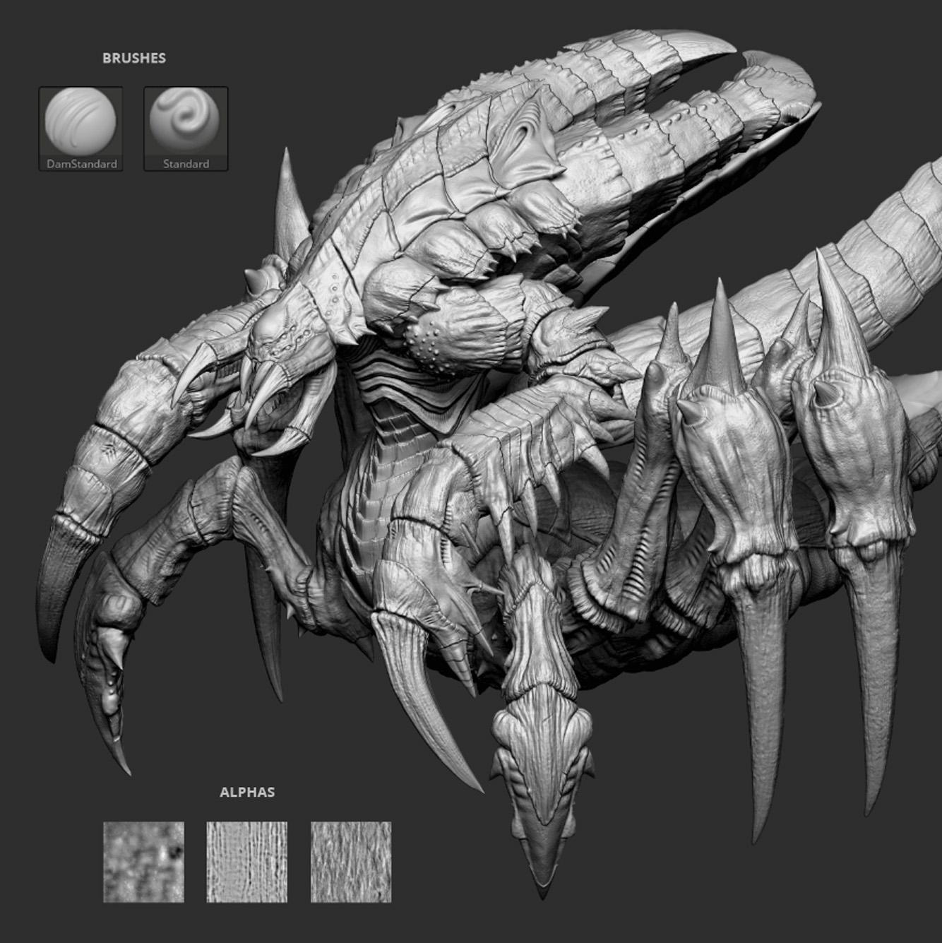 arthropod creature 3d pose