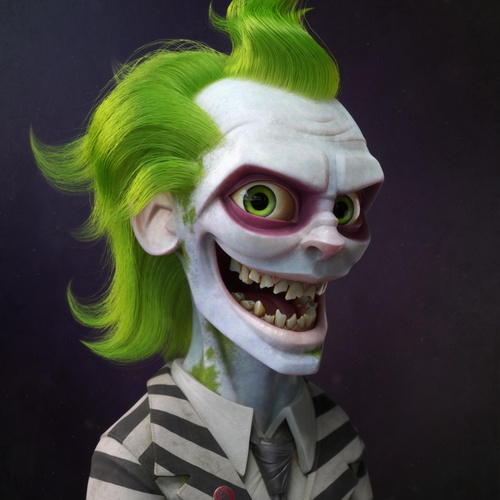 3d model character design beetlejuice