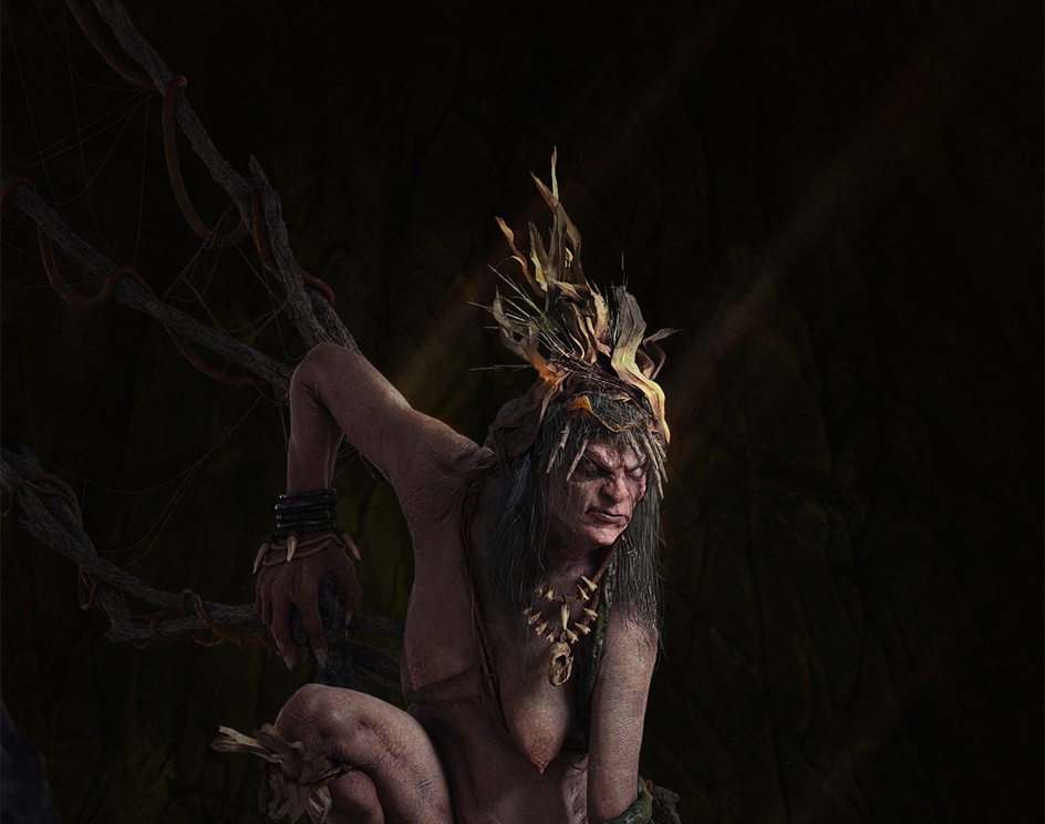 **NUDITY WARNING** Rocky swamp witchby belogriviy