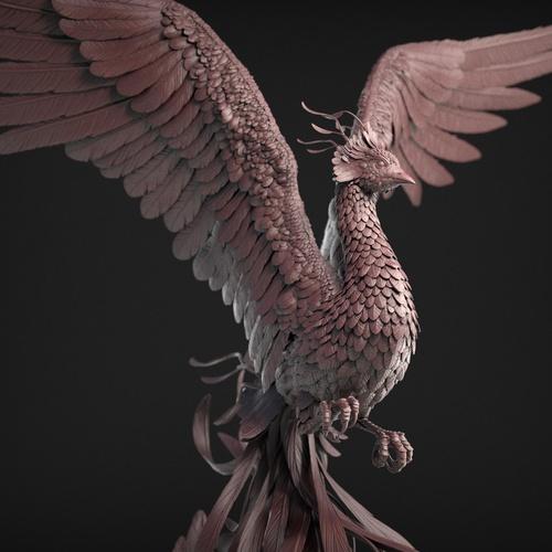 3d detailed model bird