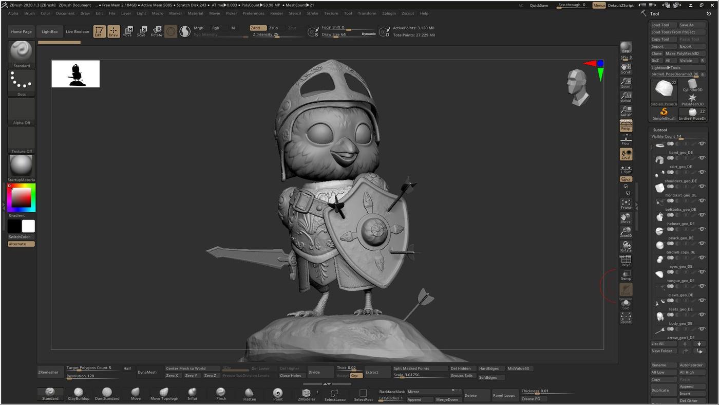 little chick 3d render model