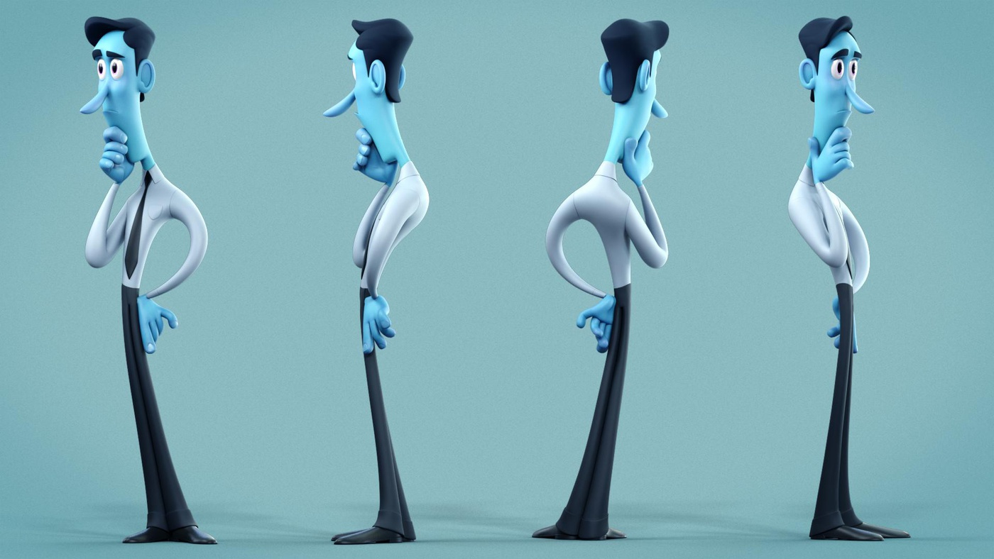 male character design 3d sculpt
