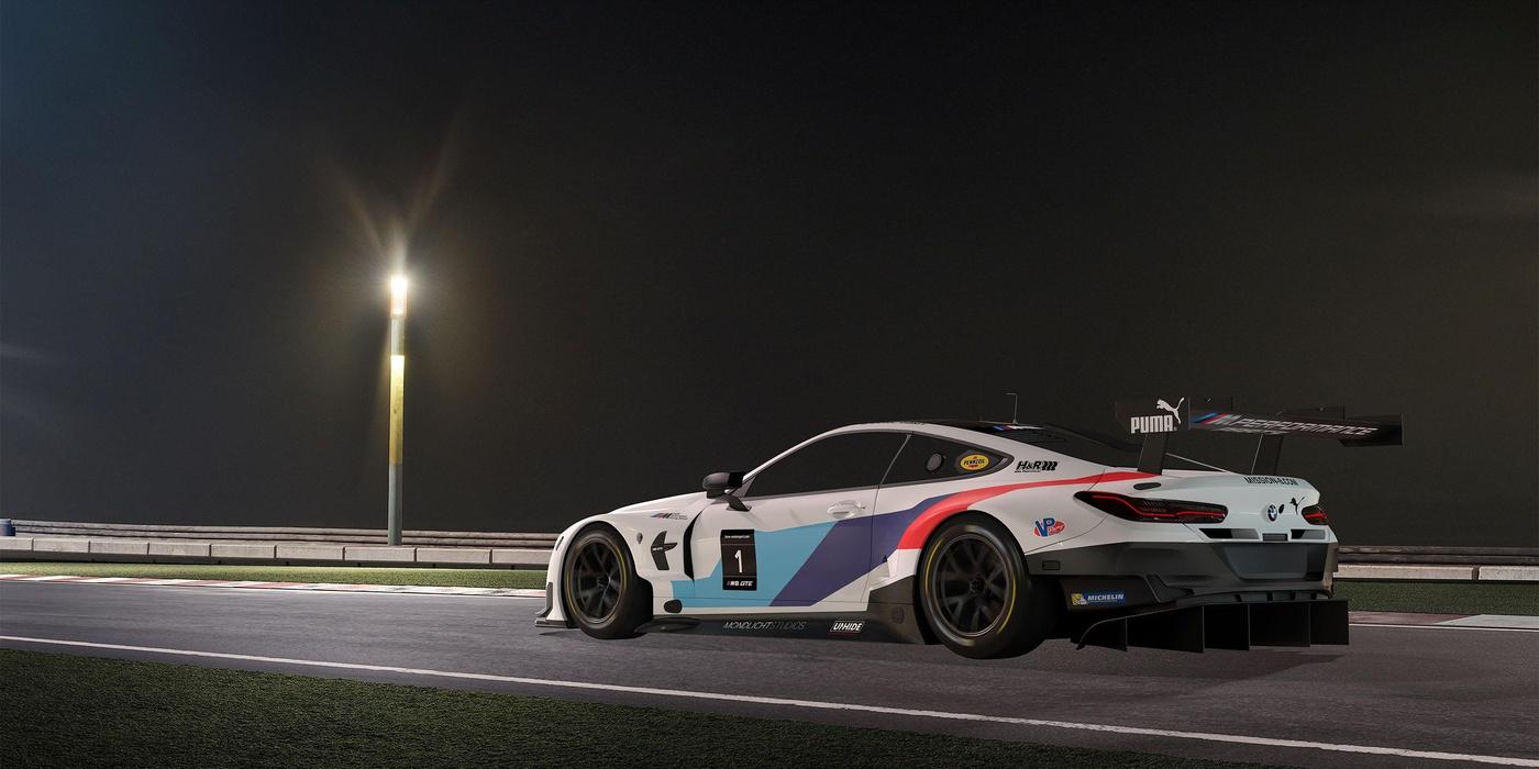 racing car raw render model process editing