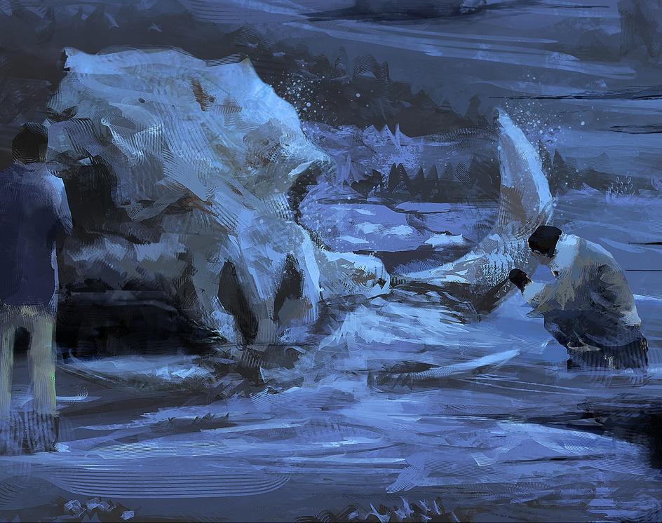 Black Water | Boar Skullby Thiago Baltar