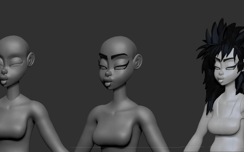 basic body modeling no texture 3d
