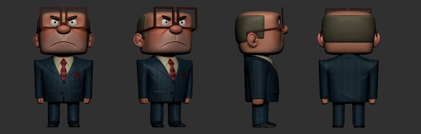 character design full body 3d model