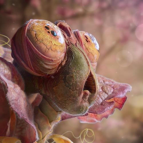 3d model realistic alien creature cute