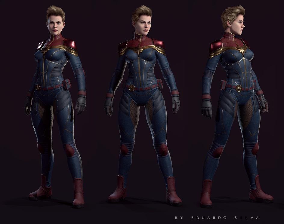 Captain Marvel fan art real timeby eduardosilva