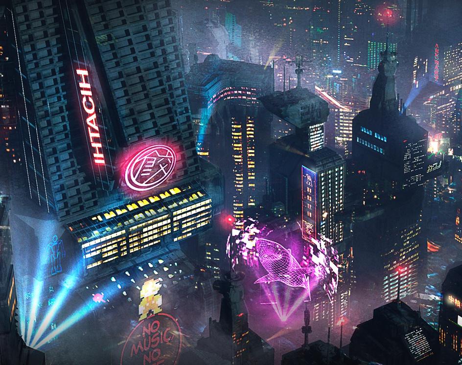 Cyberpunk Cityscapeby Christian Martinez