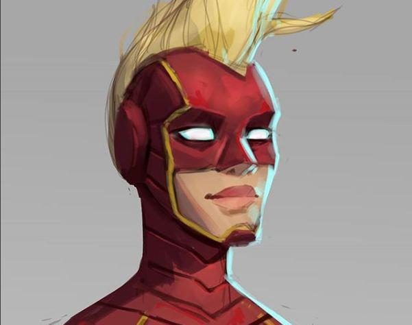 Captain Marvel - Fan Artby Rodrigo Felix