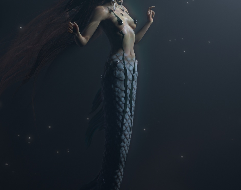 Space Mermaidby Caroline Pricillia Ng