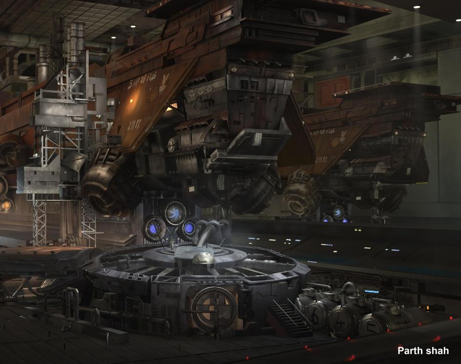Scifi Shipyardby Parth Shah