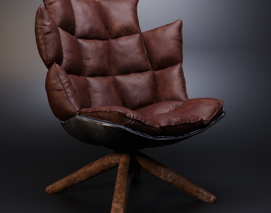 Combination of leather and woodby Hamed.falahi.ch