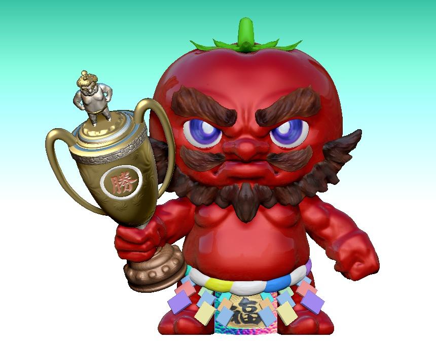 Grand Champion of Sumo Tournament - Mr. Yokozuna Tomatoby Simpson Ng