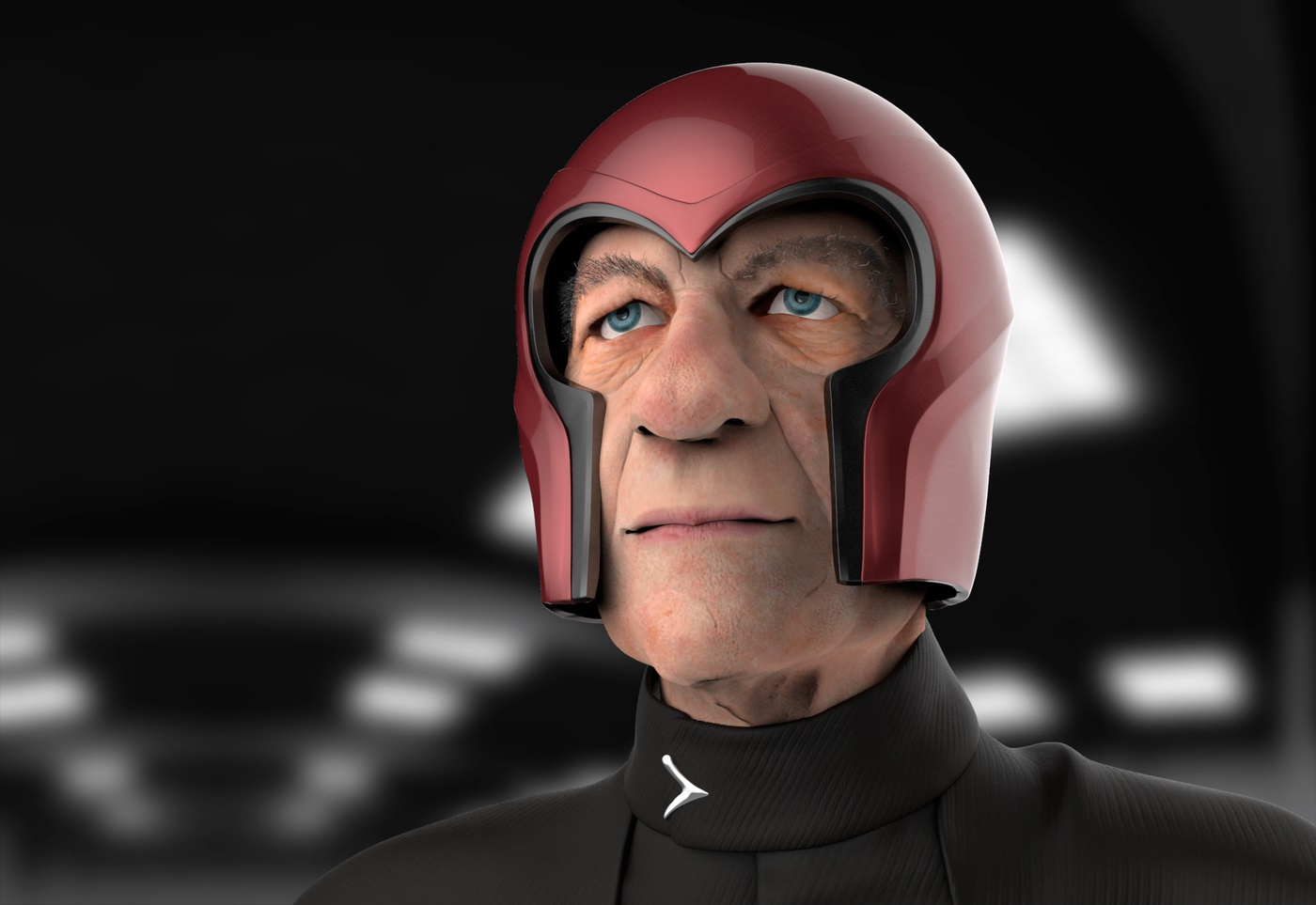magneto x-men marvel character helmet render model 3d
