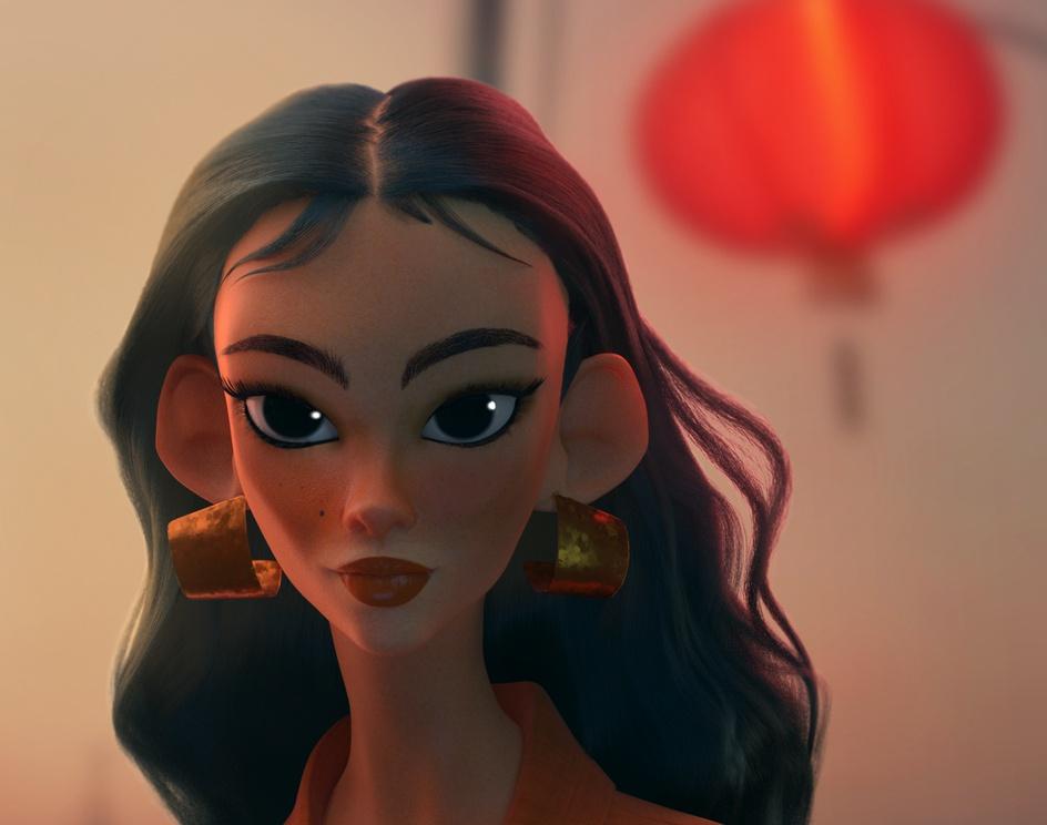 Orange Girlby Aline Monteiro