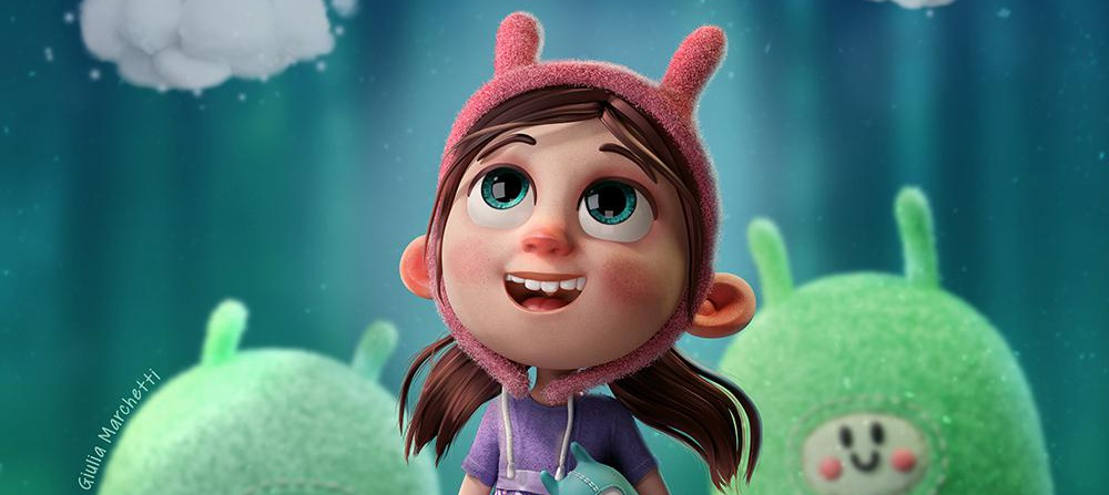 Giulia Marchetti childhood 3d cartoon