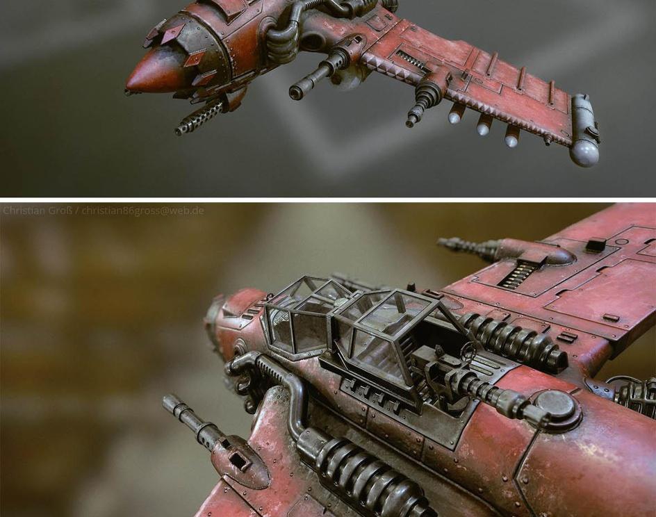 Warhammer 40K Orks Jet / Bommerby Christian Gross