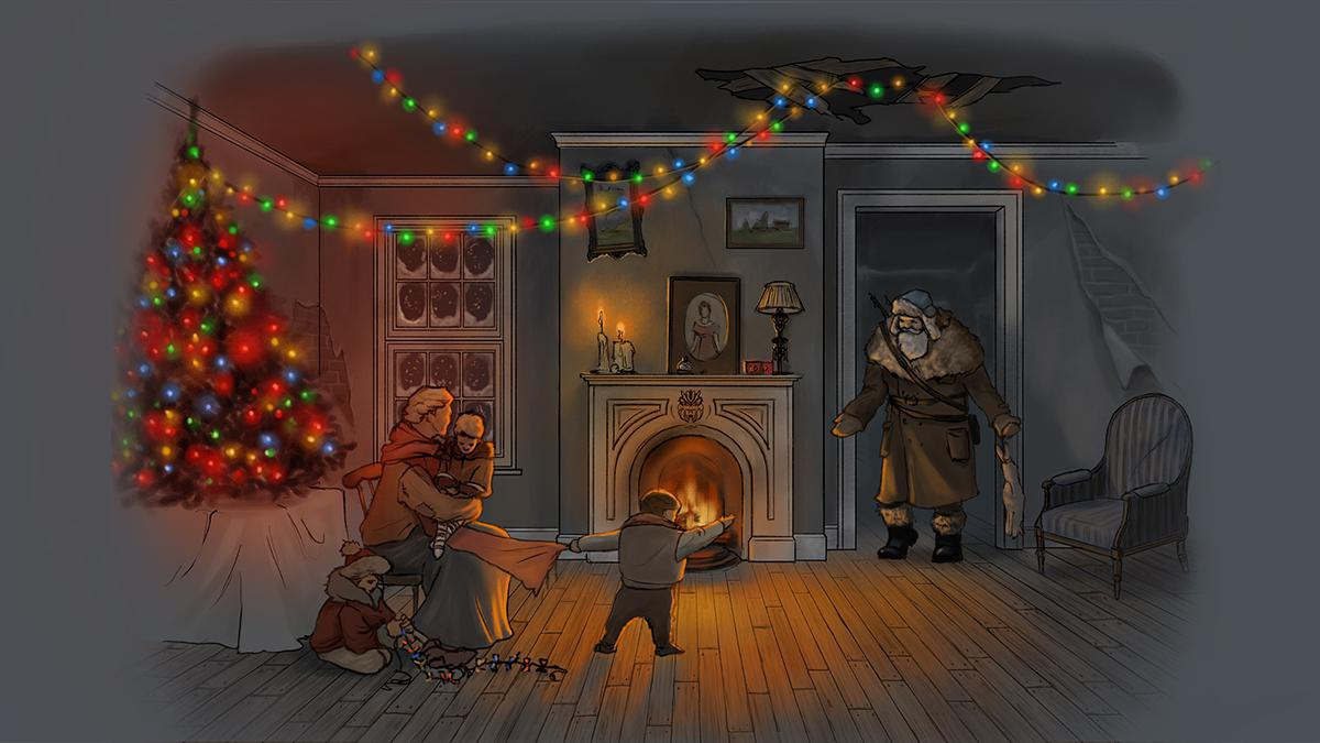 christmas festive illustration art