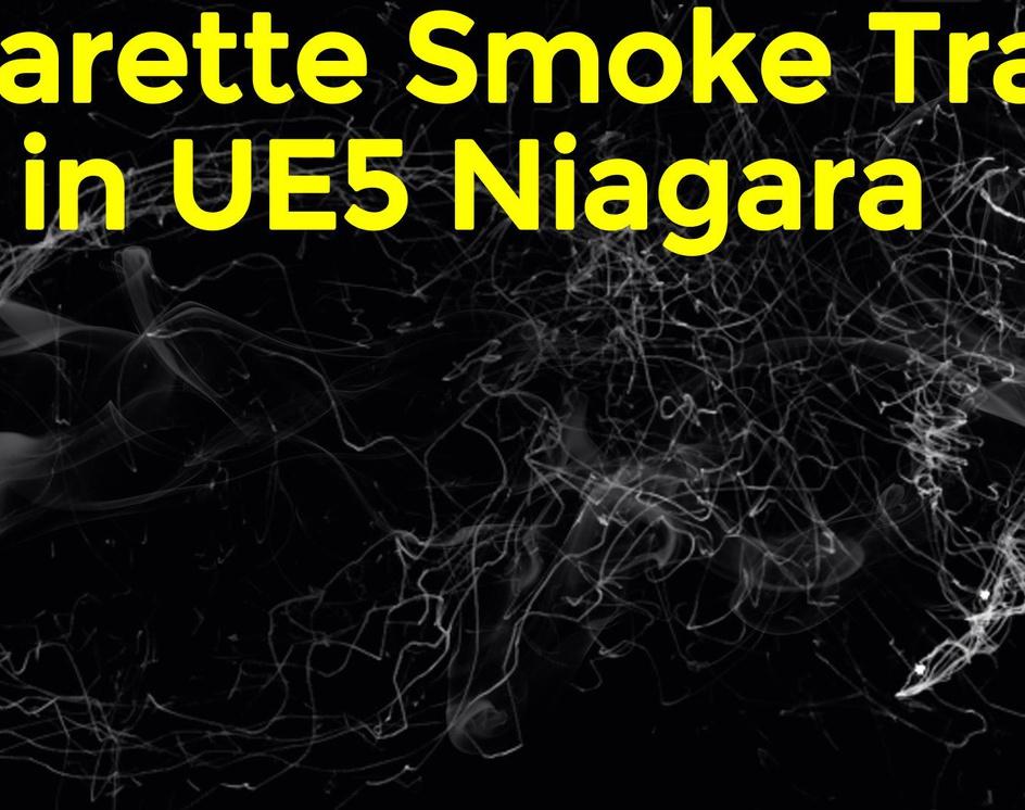 Cigarette Smoke Trails in UE5 Niagara Tutorial | Download Project Filesby Ashif Ali