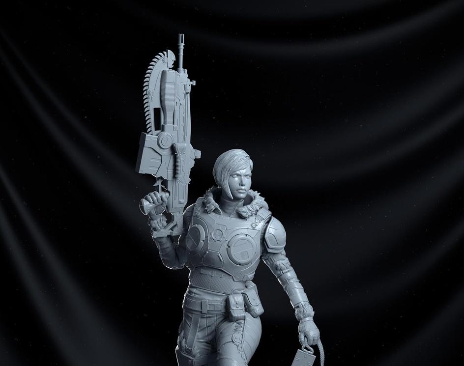 Kait Diaz - Gears of War 5 statueby Rafael Ussuy