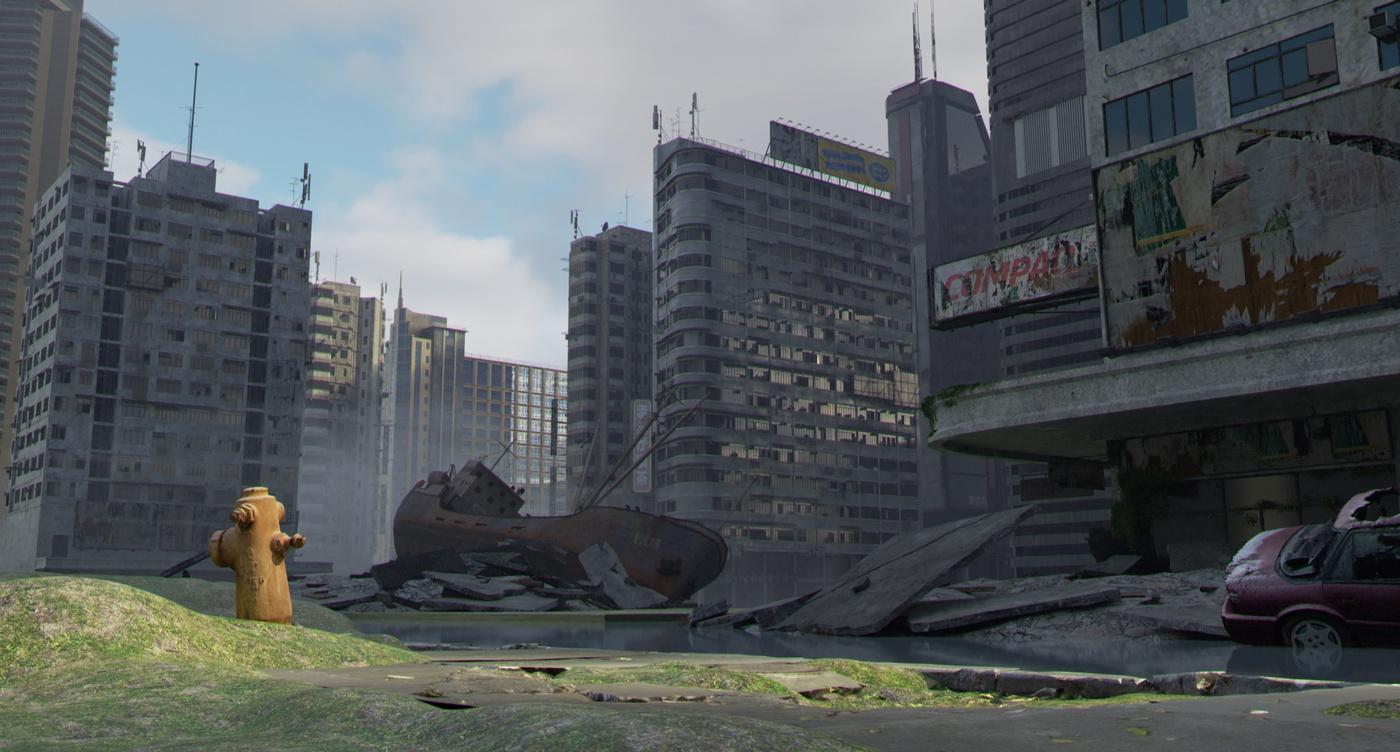 lighting effect city landscape design model 3d