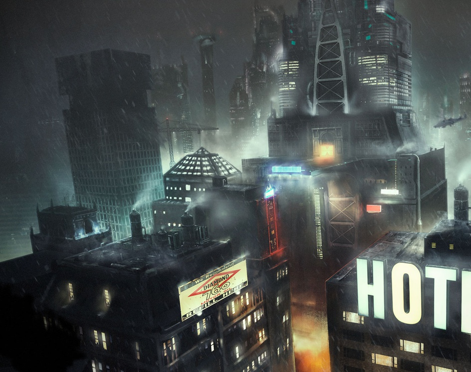 city nightby jdavidart