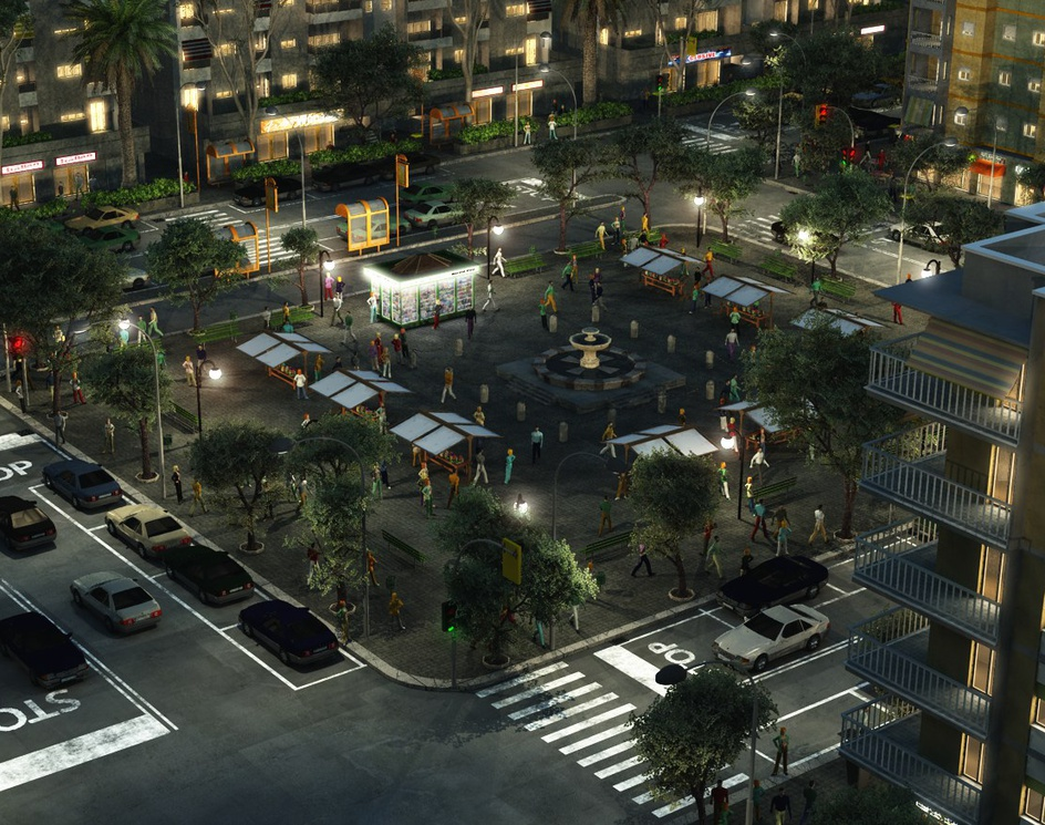 City zone by nightby Luigi Marini