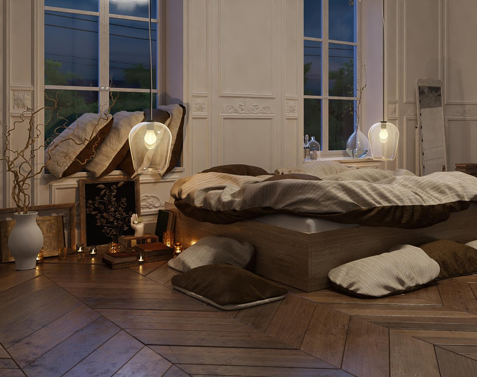 the nigh Classic Bed Roomby roohollah