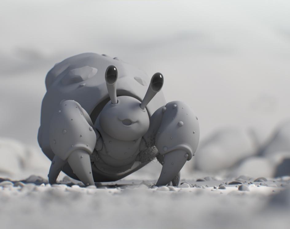 Dwebble - Pokemon fanartby S.Montecinos