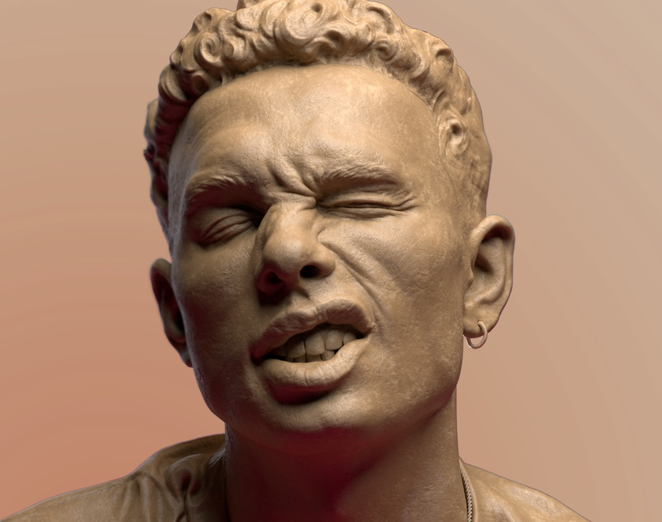 Portrait Snarl 01 (Weekend Sculpting Series)by nandlaskar