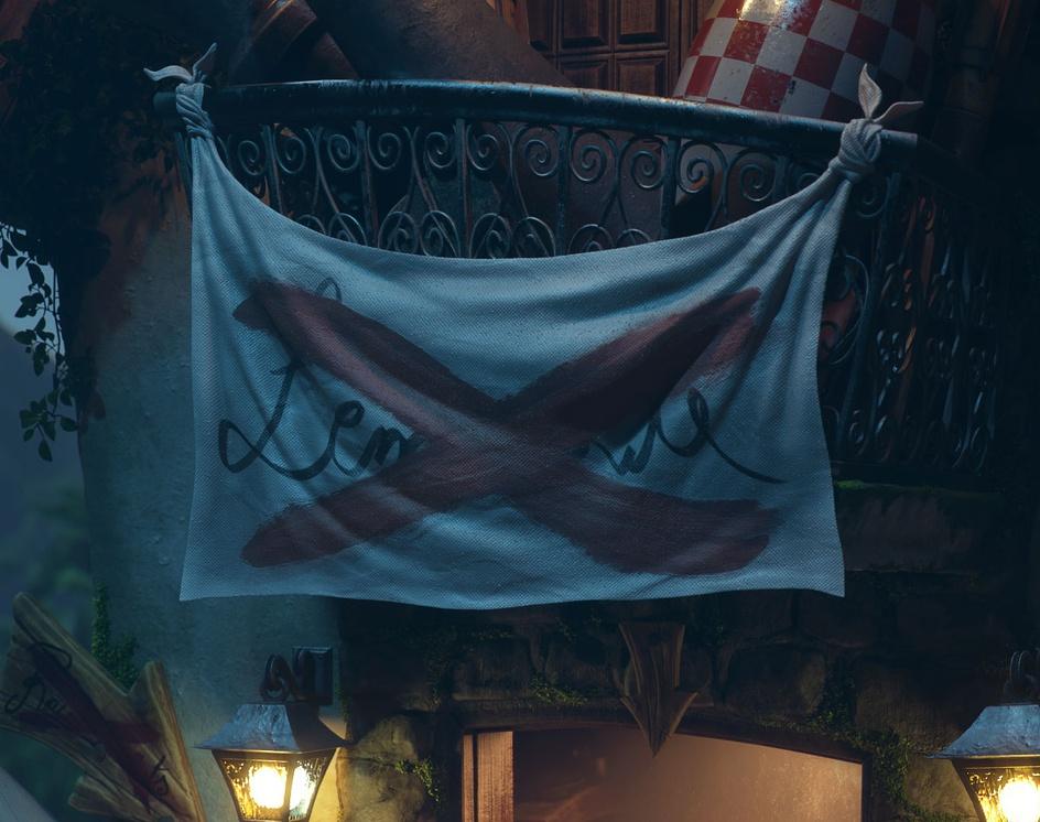 Tribute to Monkey Island - Lemonade Stand at Nightby Rafael Chies