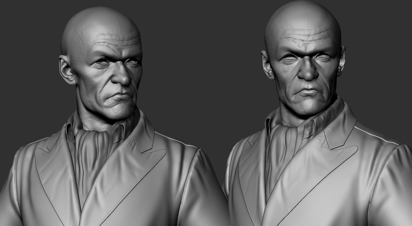 final cloth model substance painter 3d model render sculpt man
