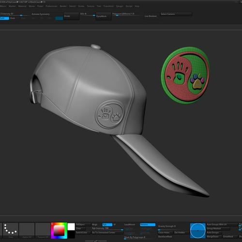 cap headwear 3d model render design creation