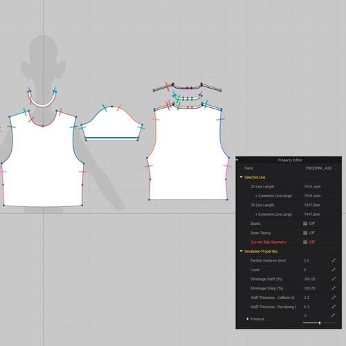tshirt design 3d mapping modeling marvelous designer