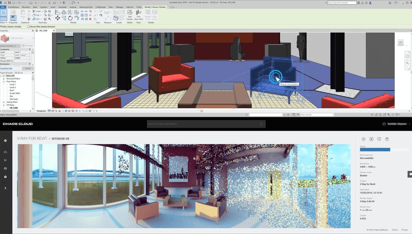 chaos cloud 3d rendering sharing website