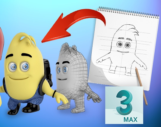 Super Easy & Fun 3d Character Animation in 3dsmaxby Ayaz Mahmood