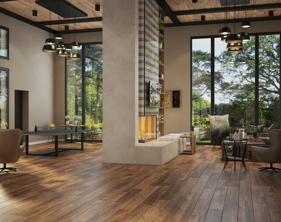 Club house kitchenby Archviz.Studio
